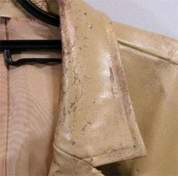 ポリウレタン繊維の劣化写真