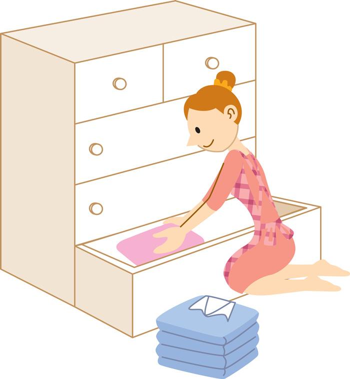 防虫剤は上から下へ流れます 洋服の詰め過ぎには注意!