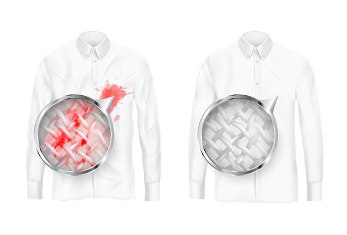 食べ物や飲み物を洋服にこぼした時の適切な対処法